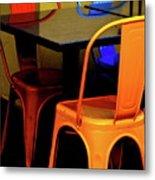 Neon Chairs 1 Metal Print