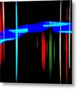 New Orleans Neon Christmas Frequency Abstract 1  Metal Print