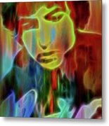 Neon Color Bob Dylan Metal Print