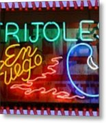 Neon Frijoles And Peppers And Gas Metal Print