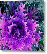 Neon Purple Metal Print