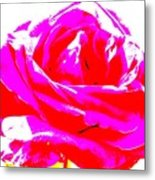 Neon Rose Metal Print by Dana Patterson
