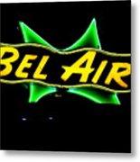 Neon Sign - Bel Air Motel - Wildwood Metal Print