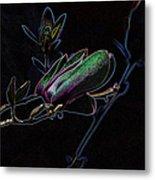 Neon Tulip Tree 5090 Metal Print