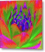 Neon Water Lily 02 - Photopower 3371 Metal Print