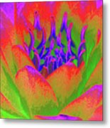 Neon Water Lily - Photopower 3370 Metal Print