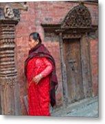 Nepalese Woman Metal Print