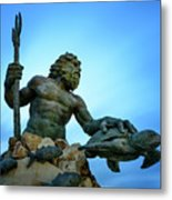 Neptune's Power Metal Print