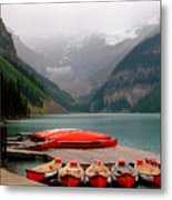 Nestled Boat Launch Metal Print