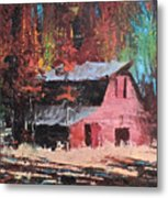 Nestled In The Pines Metal Print
