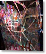 Net Metal Print by Dave Kwinter