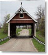 Netcher Road Covered Bridge Metal Print