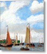 Netherland's Harbour Metal Print