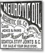 Neurotic Vintage Ad Metal Print