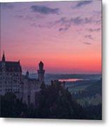 Neuschwanstein Castle Landscape Metal Print