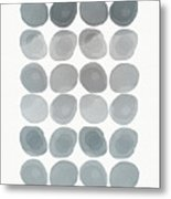 Neutral Stones- Art By Linda Woods Metal Print