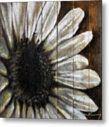 Neutral Sunflower Metal Print