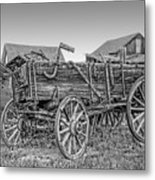 Nevada City Montana Freight Wagon Metal Print by Daniel Hagerman