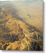 Nevada Mountain Terrain Aerial Metal Print
