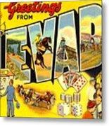 Nevada Postcard Metal Print