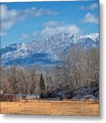 Nevada Ranch In Winter Metal Print