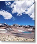 Nevado Ojos Del Salado And Laguna Negra Metal Print