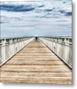 Never Ending Beach Pier Metal Print