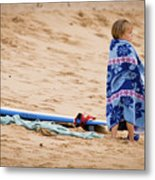 Never Too Young To Surf Metal Print