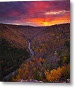 Neverending Autumn Metal Print by Joseph Rossbach