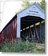 Nevins Covered Bridge Indiana Metal Print