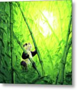 New Bamboo Leaves Metal Print