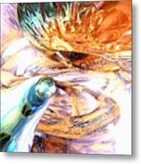 New Beginnings Abstract  Metal Print