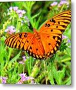 Windows From Heaven Orange Butterfly Metal Print