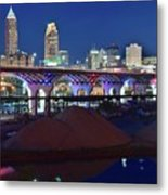 New Bridge From Along The River Metal Print