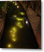 New Canal In Utrecht In The Evening 7 Metal Print