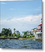 New Canal Lighthouse And Lakefront - Nola Metal Print