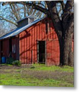 New Clairvaux Abbey Barn Metal Print