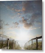 New Day At The Beach Metal Print