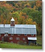 New England Barn Metal Print