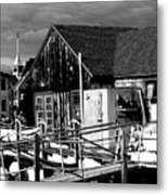 New England Boat House Metal Print