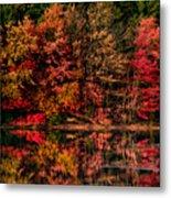 New England Fall Foliage Reflection Metal Print