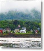 Granville Ferry Nova Scotia Canada  Fog Lifting Metal Print