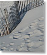 New England Footprints Metal Print