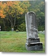 New England Graveyard During The Autumn  Metal Print