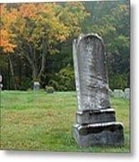 New England Graveyard During The Autumn  Metal Print