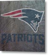 New England Patriots Translucent Steel Metal Print