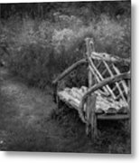 New England Summer Rustic Bw Metal Print