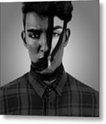 New Face Metal Print