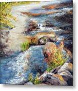 New Hampshire Creek In Fall Metal Print