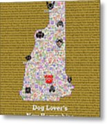 New Hampshire Loves Dogs Metal Print